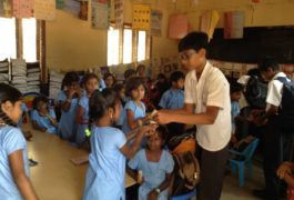 Community service by Trio world school